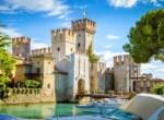 Rocca Scaligera castle in Sirmione town near Garda Lake in Italy